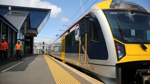 A train fault at Wiri triggered delays across the network. (FILE)