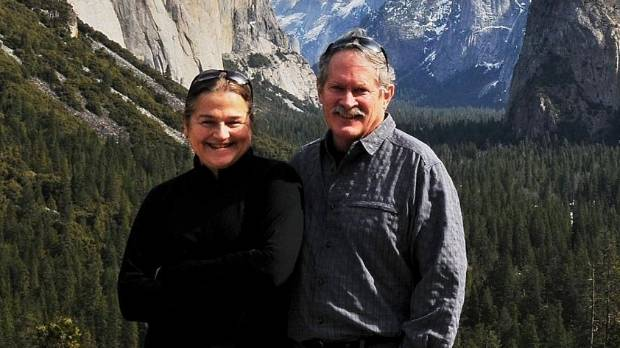 Penny and Phillip Loving (known as Andy) at Yosemite National Park. Andy Loving died after being hit by a truck at the ...