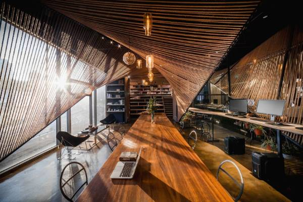 Rope Wave Office in Shanghai, by Jing-Rui Lin of Atelier Ten, was the Popular Choice Winner, Coworking Space.