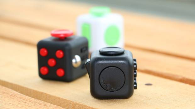 A Fidget Cube has six different sides to keep your hands busy.