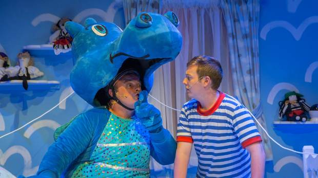 Puff the Magic Dragon, played by actor Tim Raby, and Jack (Cole Johnston) star in the latest Pumphouse show by Tim Bray ...