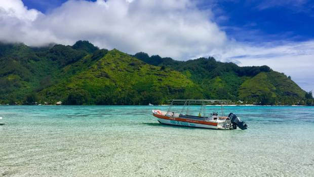 The view of Moorea from Captain Taina's private motu is stunning.
