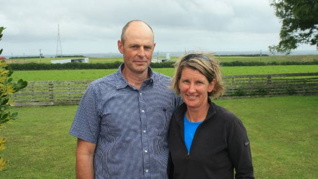 Taranaki Ballance Farm Environment Awards winners Peter and Nicola Carver.