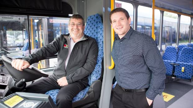Waikato District Council mayor Allan Sanson and Waikato Regional Council public transport manager Andrew Wilson.