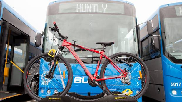 Go Bus and Waikato Bike racks are a key feature for the new Go Bus  buses.