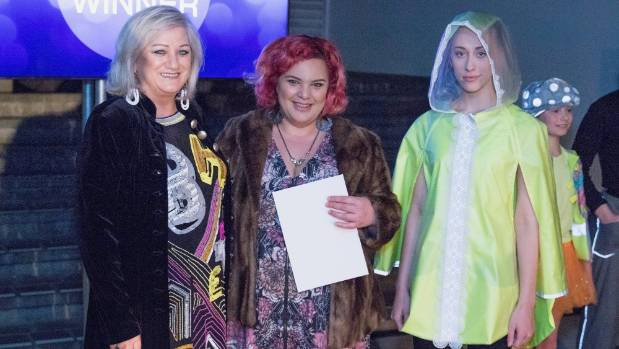Kat Filer, centre, with  Arrow Uniforms' Sheila Murray-Hamilton, left, and model Lily Andrew at the 2016 Project Glow ...