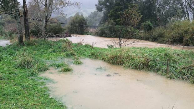 Cyclone Cook has caused surface flooding to some parts of Marlborough, including Rai Valley.