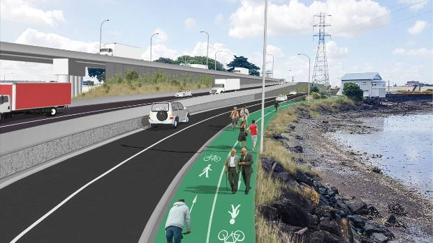 Onehunga locals are concerned the current East West Link plans will severe their connection to the coast.