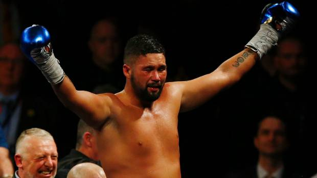 Tony Bellew acknowledges the crowd after beating David Haye.