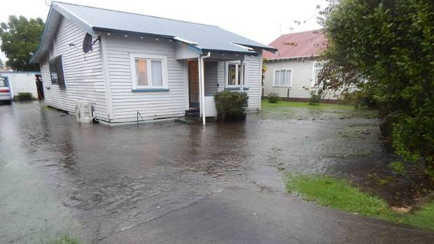 Flooding in Matamata, Waikato, ahead of Cyclone Cook.