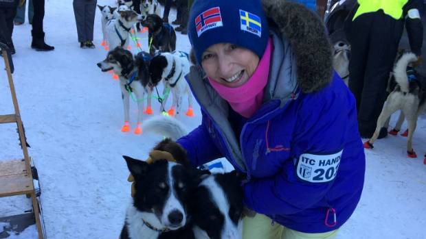 Libby Harrop was a dog handler for a Norwegian team in the Iditarod dog sled race in Alaska.