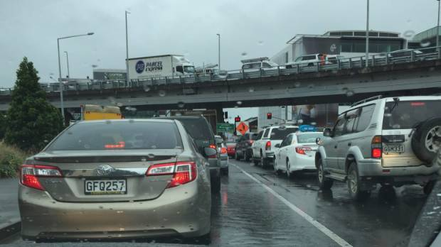 Traffic at a standstill near Victoria Park as Auckland commuters try and make their way onto the city's motorways.