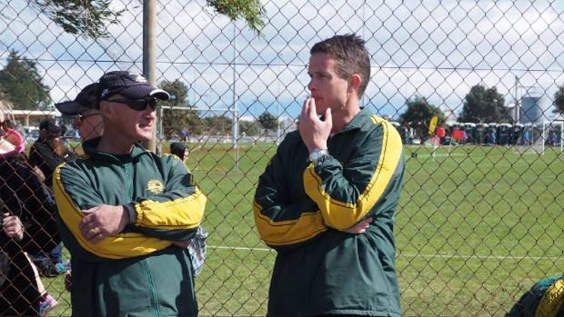 Murrays Bay Intermediate School sports director Kevin Anderson, with Brandon Kruyen, was always seen supporting students ...