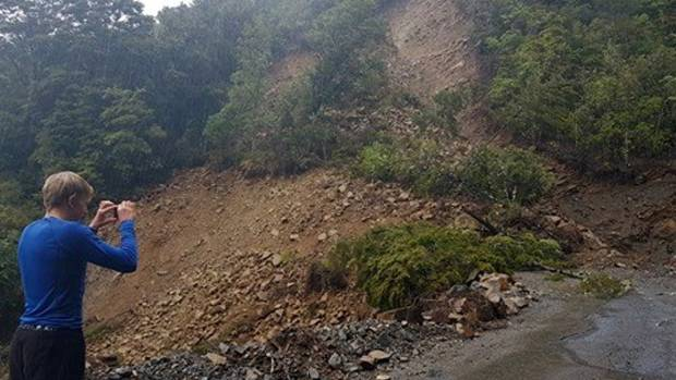 A slip following heavy rain has closed the Cobb Rd in Upper Takaka, Golden Bay.