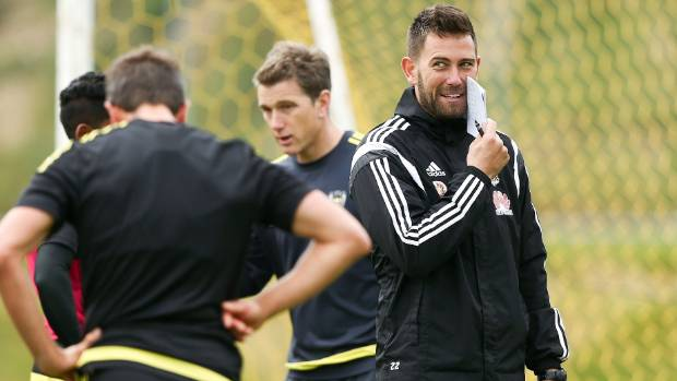 Wellington Phoenix co-coach Des Buckingham during a training session earlier in the season.