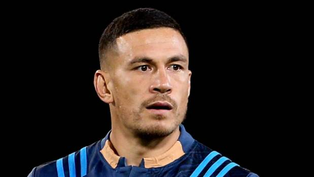 Sonny Bill Williams taped over the BNZ logo for last week's match against the Highlanders.