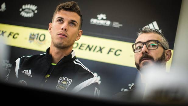 Former Wellington Phoenix video analyst Valerio Raccuglia, right, was not replaced when he left in February.