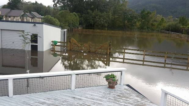 A resident in the Waikato's Te Aroha sent us this image of flooding at his property.