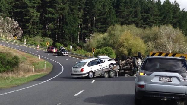 Napier crash on Mohaka hill.