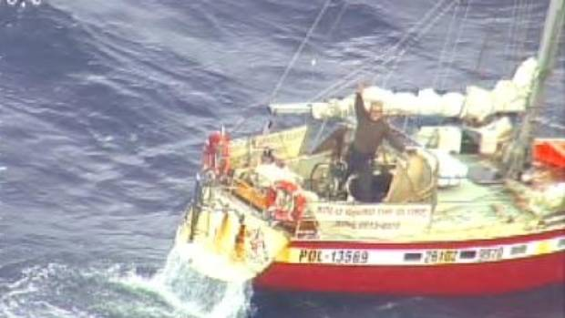 Polish yachtie rescued by cargo ship