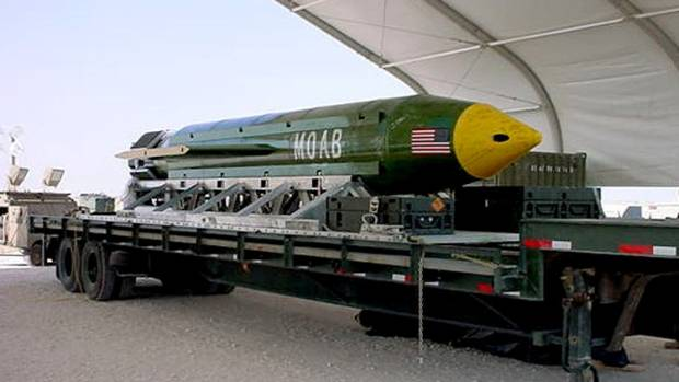 US Drops Its Largest Non-Nuclear Bomb in ISIS Fight