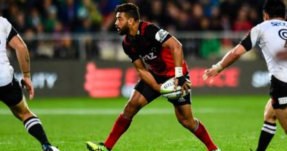 Richie Mo'unga, pictured in his comeback game for the Crusaders against the Sunwolves, stacked on 6kg of muscle over the ...