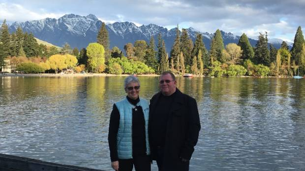 The couple were headed to Queenstown for a wedding and family reunion.