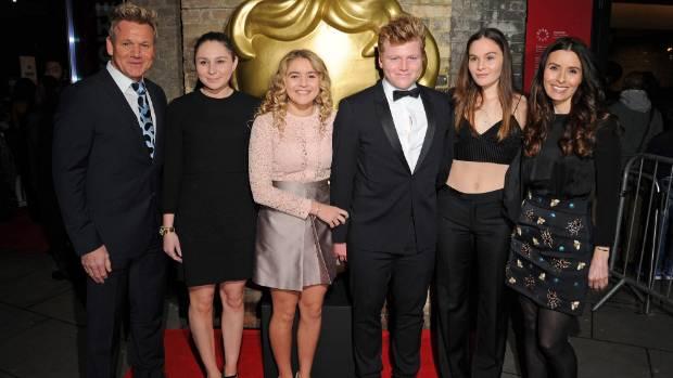 Gordon Ramsay, from left, with Megan Ramsay, Matilda Ramsay, Jack Ramsay, Holly Ramsay and Tana Ramsay.