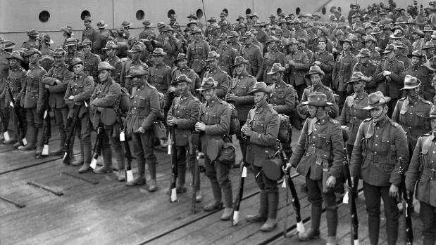 New Zealand soldiers before the Gallipoli nightmare.