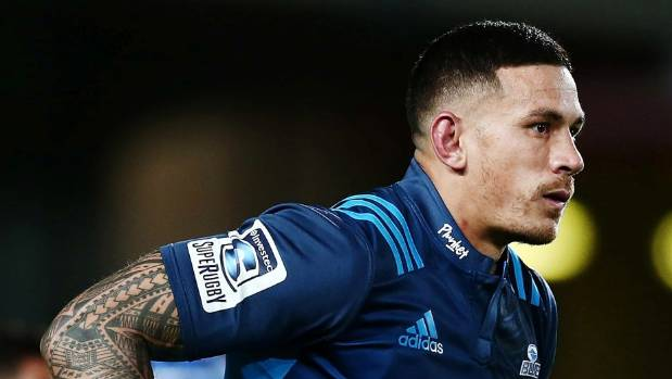 Sonny Bill Williams sports his new-look jersey for the Blues in their Super Rugby match against the Hurricanes at ...