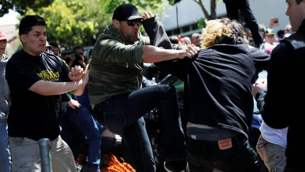 Antifa And Trump Supporters Battle At Berkeley