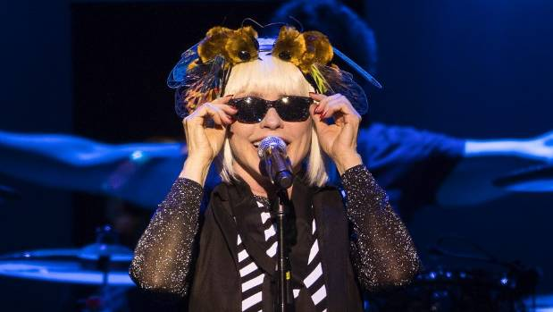 At 71, Blondie's Debbie Harry was rocking new music and sporting a bee-inspired tiara.