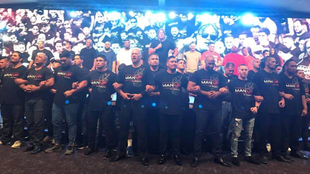 Members of Destiny Church's Man Up programme, many former gang members, took to the stage for the show.