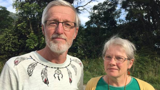 Sounds resident Hanneke Kroon, right, with her partner Joop Jansen who also opposes the salmon farms.