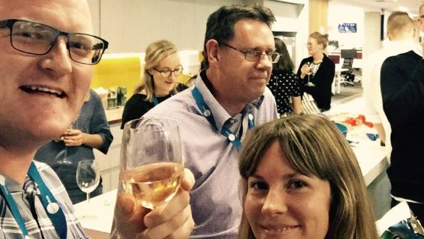 And don't choose a picture that includes other people. (That's our long-suffering boss David at Friday drinks.)