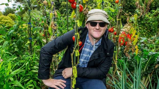 A clear favourite: Most people chose a picture of Craig Hoyle at home in his Arch Hill tomato patch.