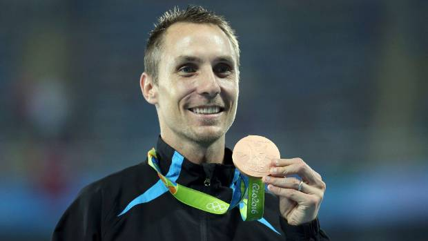 New Zealand's Nick Willis with his 1500m bronze medal at the Rio Olympics.