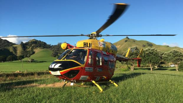 The Auckland Westpac Rescue Helicopter was required after a woman got a fishing hook in her eye on the Coromandel.