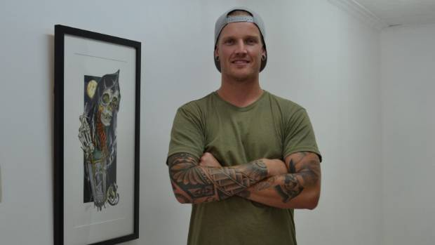 Sam Clayton is self-taught and has tattooed for five years.