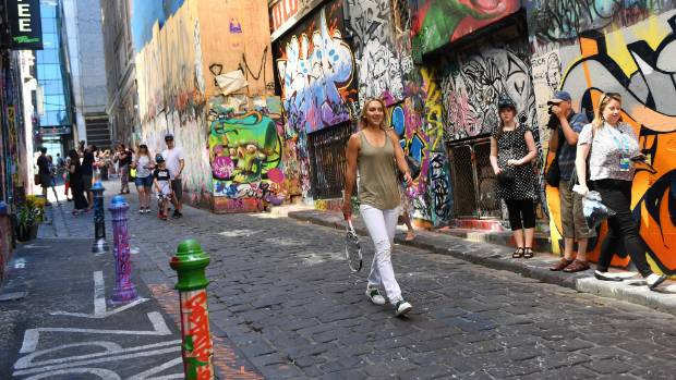 The famous Hosier Lane, known for its graffiti art is well worth a visit.