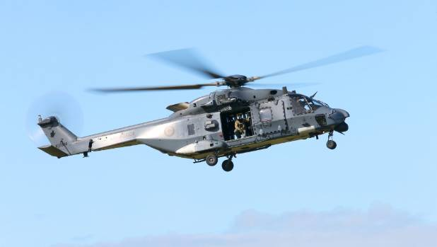 The NH90 on display at the Yealands Classic Fighters Omaka Airshow on Sunday.