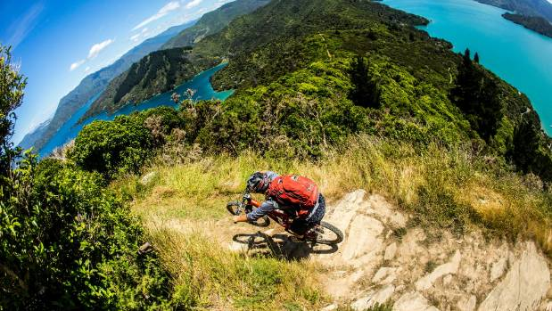 Anka Martin bikes the Queen Charlotte Track.