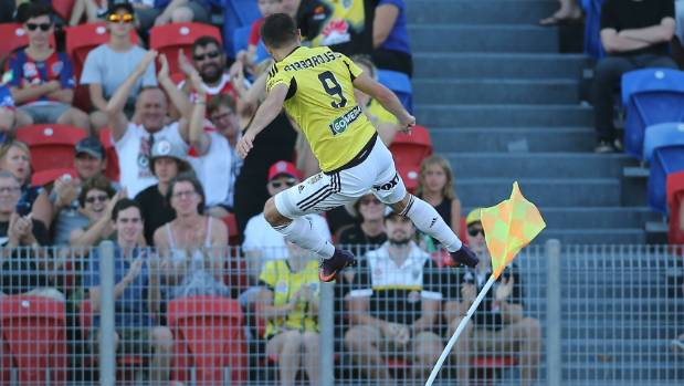 Kosta Barbarouses was named the Wellington Phoenix's Player of the Year on Tuesday night.