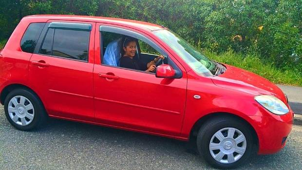 Thieves smashed their way into Praneel Lal's Mazda Demio and stole it in Canterbury in February. It's the most popular ...