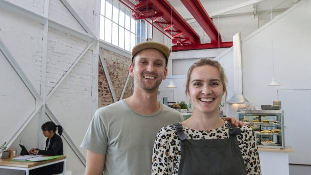 Grain Coffee and Eatery's owners Jonny Gudsell and Sophie Dewar in their new cafe.