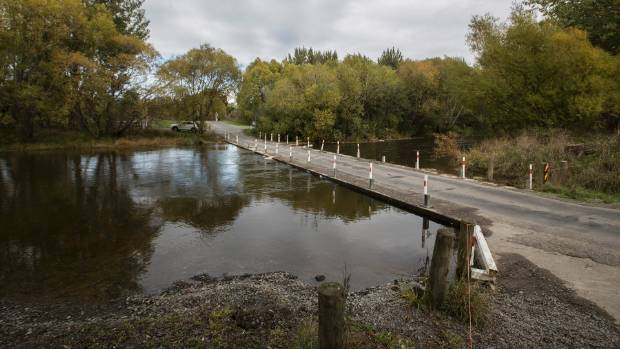 Coes Ford on the Selwyn River had water flowing freely again on Tuesday.