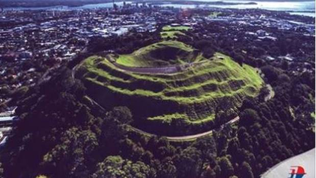 The accompanying picture was of Mt Eden (in Auckland), along with the airline's logo.