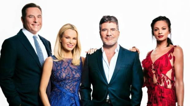 Britain's Got Talent judges David Walliams, Amanda Holden, Simon Cowell and Alesha Dixon.