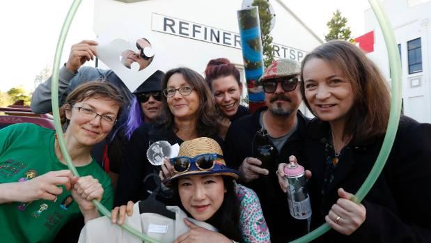 Fringe Festival Visual Arts Project artists, Karolina Gorton, Klaas Breukel, Gaelynne Pound, Sally Shaw, Yoshi, Ishna ...