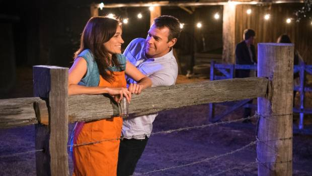 Nicole da Silva and Hugh Corser in the rural setting of Doctor Doctor.
